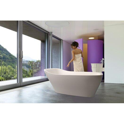 """Aquatica Emmanuelle 71.75"""" x 33.75"""" Soaking Bathtub"""