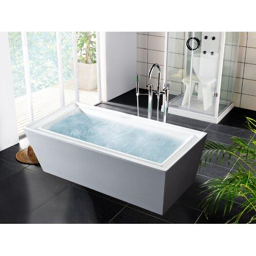 """Aquatica PureScape 70.75"""" x 33.5"""" Soaking Bathtub"""