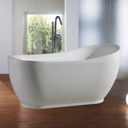 """Aquatica PureScape 70.3"""" x 34"""" Soaking Bathtub"""