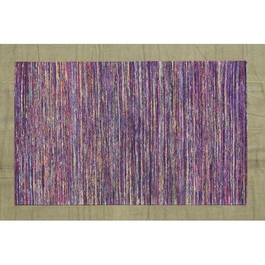 Dark Purple Rugs: Noble House Rainbow Dark Purple Area Rug