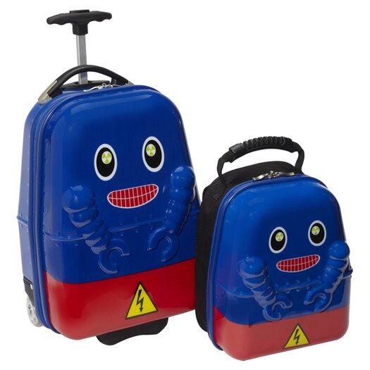 TrendyKid 2 Piece Rusty Robot Children's Luggage Set