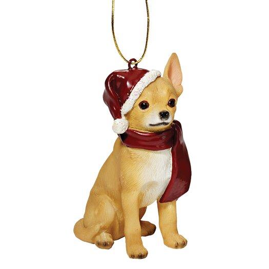 Design Toscano Chihuahua Holiday Dog Ornament Sculpture