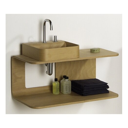 Whitehaus Collection Aeri Wall Mount Wood Structure Shelf