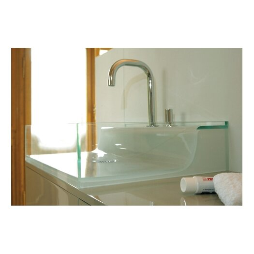Whitehaus Collection Aeri Vetro Glass Above Mount Bathroom Sink