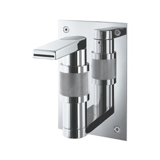 Whitehaus Collection Gesto Single Hole Waterfall Bathroom Faucet Less Handles