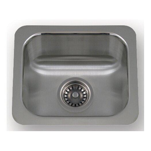 "Whitehaus Collection New England 14.5"" x 12.5"" Undermount Small Semi Square Kitchen Sink"