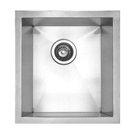 """Whitehaus Collection Noah's 15"""" x 17.38"""" Chefhaus Single Bowl Undermount Kitchen Sink"""