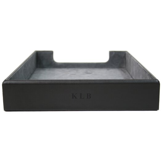 Royce Leather Genuine Leather Executive Desk Letter Tray Organizer