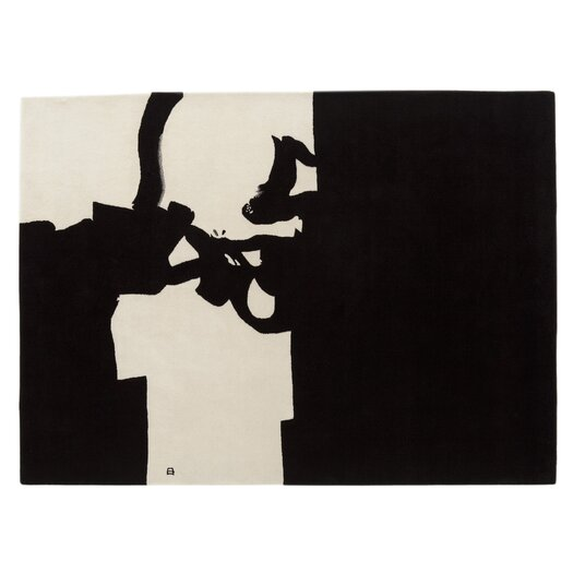 Chillida Hand-Woven Black/White Area Rug