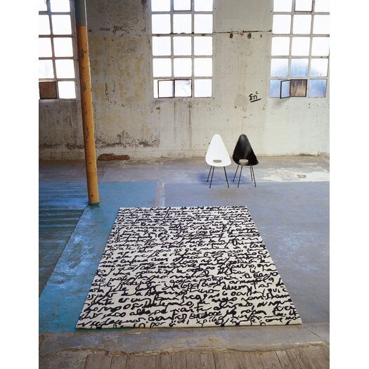 Nanimarquina Black On White Manuscrit Area Rug