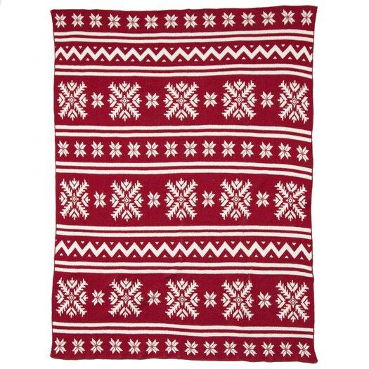 In2Green Eco Designer Fair Isle Throw Blanket