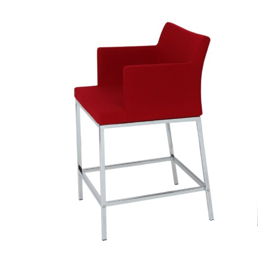 Sohoconcept Pera Wire 24 Quot Bar Stool With Cushion Allmodern