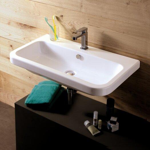 Ceramica Tecla by Nameeks Electra Ceramic Bathroom Sink with Overflow