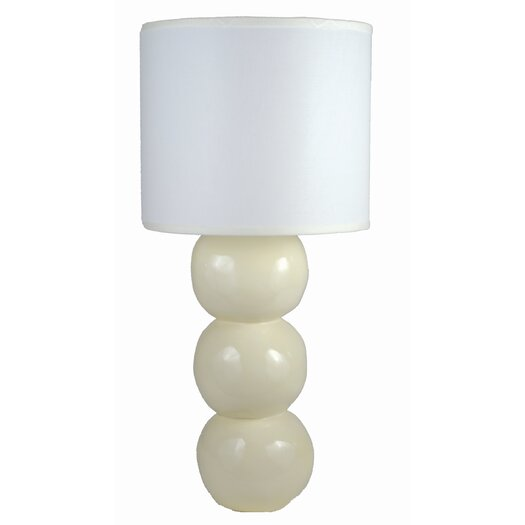 """Alex Marshall Studios Sphere 23.5"""" H Table Lamp with Drum Shade"""
