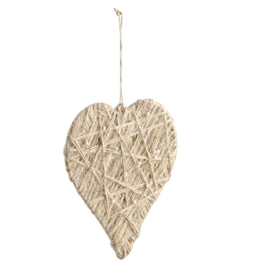 BIDKhome Woven and Pearled Wire Heart Ornament