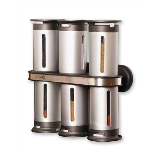 Zevro Zero Gravity Wall Mounted Magnetic 7 Piece Spice Tower Set