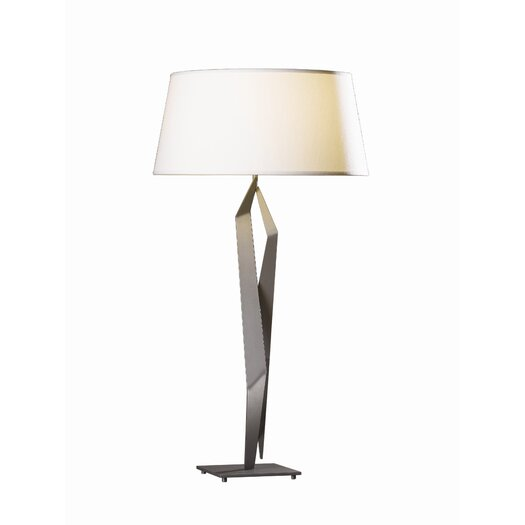"""Hubbardton Forge Facet 33.7"""" H Table Lamp with Empire Shade"""