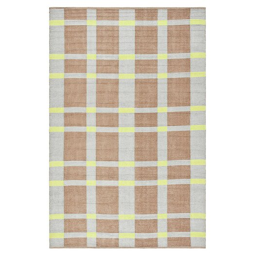Thom Filicia Rugs Thom Filicia Saddle Lawn Green/Brown Indoor/Outdoor Rug