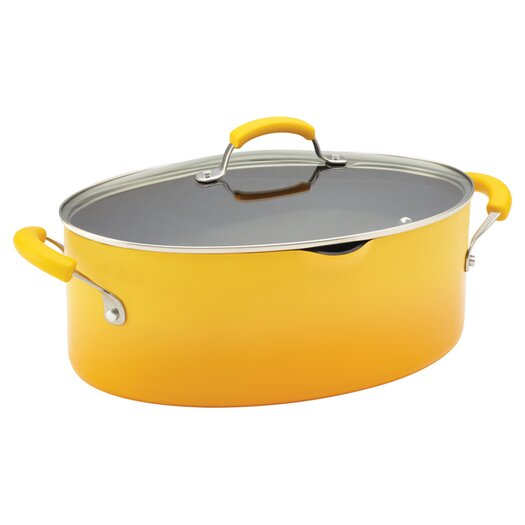 Rachael Ray Porcelain II Nonstick 8 Qt. Stock Pot with Lid