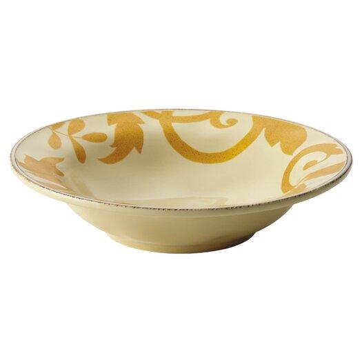 Rachael Ray Gold Scroll Serving Bowl