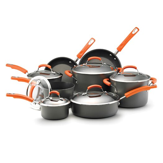 Rachael Ray Hard Anodized Nonstick 14 Piece Cookware Set