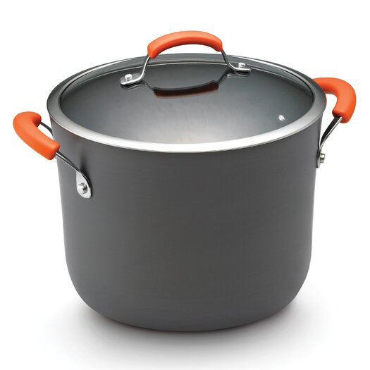 Rachael Ray Hard Anodized II 10 Qt. Stock Pot with Lid