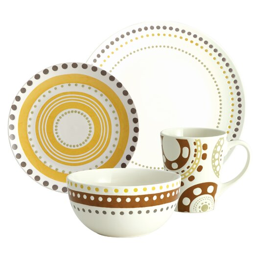 Rachael Ray Circles and Dots Dinnerware Collection