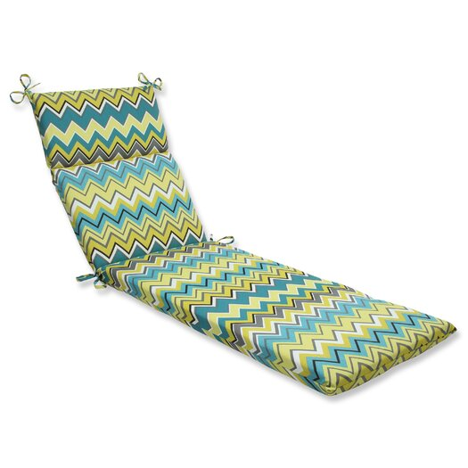 Pillow perfect zig zag chaise lounge cushion allmodern for Chaise zig zag
