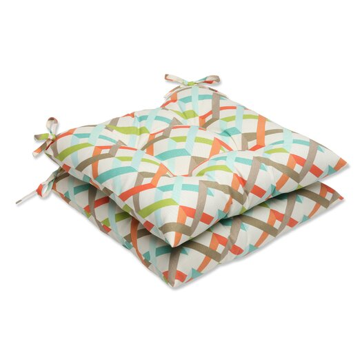 Pillow Perfect Parallel Play Outdoor Seat Cushion