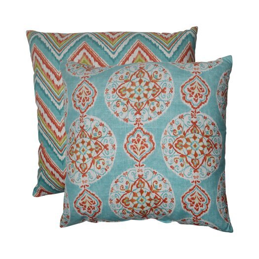 Pillow Perfect Mirage and Chevron Floor Pillow