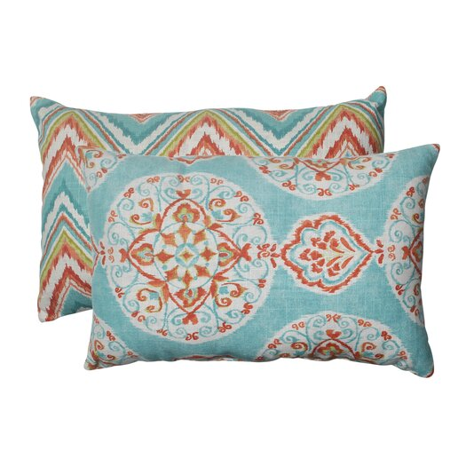 Pillow Perfect Mirage and Chevron Lumbar Pillow
