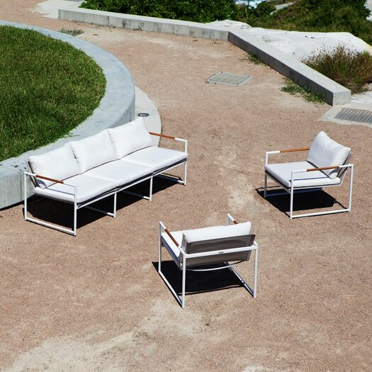 Harbour Outdoor Breeze 3 Piece Lounge Seating Group with cushions