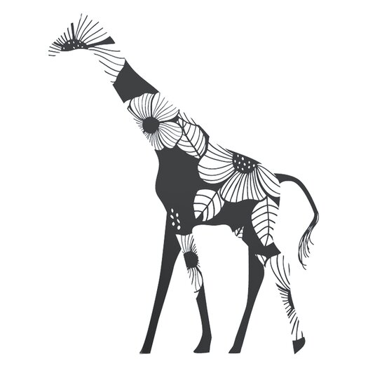 Fauna Floral Giraffe Wall Decal