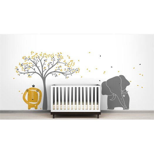 Mural Baby Zoo Wall Decal
