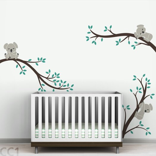 LittleLion Studio Tree Branches Koala Wall Decal