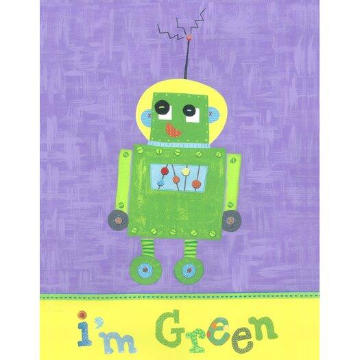 The Little Acorn I'm Green Robot Canvas Art