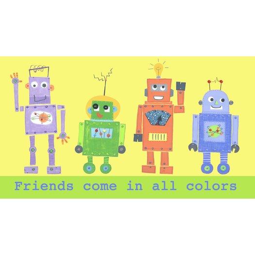 The Little Acorn Friends Come In All Colors Robot Canvas Art