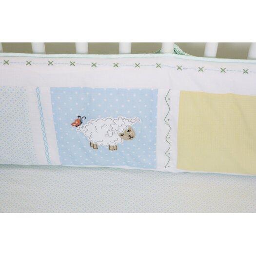 The Little Acorn Sweet Pea Baby 3 Piece Crib Bedding Set