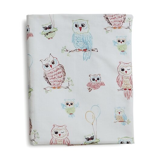 The Little Acorn Baby Owls Fitted Crib Sheet
