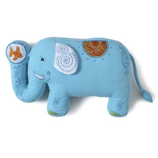 The Little Acorn Funny Friends Elephant Cotton Throw Pillow