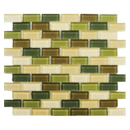Interceramic Shimmer Blends Ceramic Mosaic Tile in Foliage