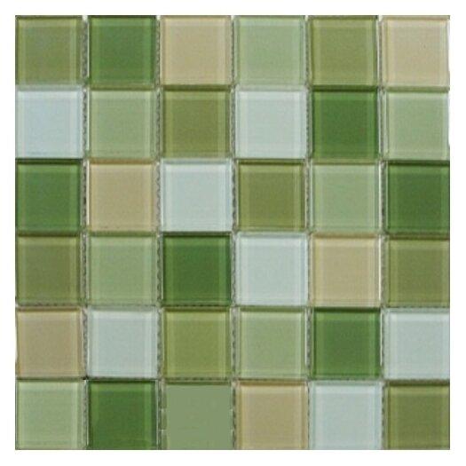 """Interceramic Shimmer Blends 2"""" x 2"""" Ceramic Mosaic Tile in Garden"""
