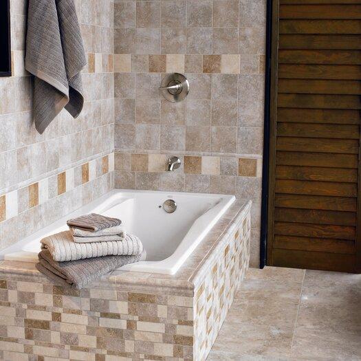 "Interceramic Montreaux 4.25"" x 4.25"" Ceramic Field Tile in Gris"