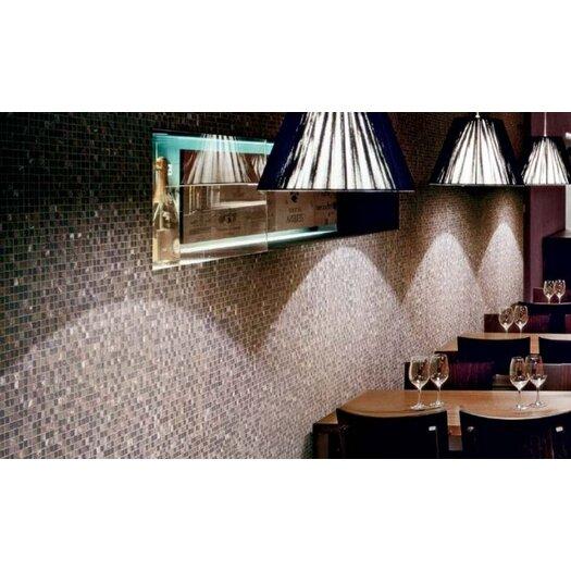 Marazzi Random Sized Crystal Glass and Stone Mosaic Tile in Purple
