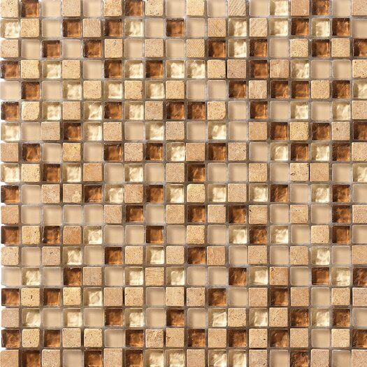 Marazzi Crystal Glass and Stone Mosaic Tile in Caramel