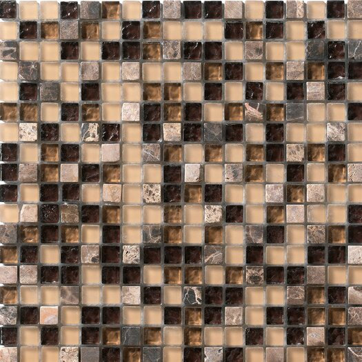Marazzi Crystal Glass and Stone Mosaic Tile in Coffee