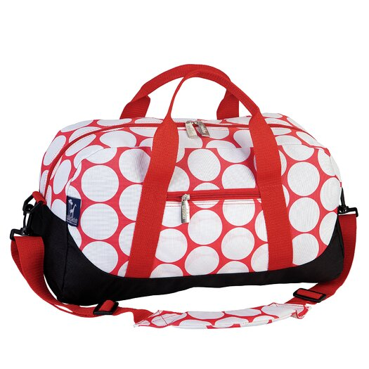 Wildkin Ashley Big Dot Red & White Overnighter Duffel Bag