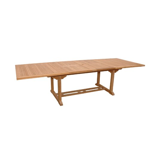 Anderson Teak Valencia Rectangular Dining Table with Double Extensions
