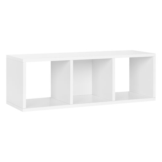 Way Basics zBoard Eco 3 Cubby Storage Bench & Stackable Organizer
