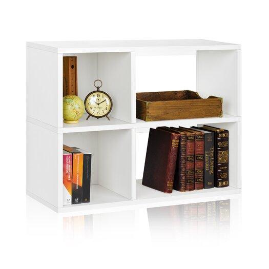 """Way Basics Chelsea 24.8"""" Bookcase and Cubby Storage Shelf"""